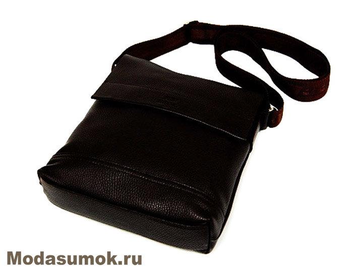 24932b716158 Сумка из натуральной кожи BB1 940047 темно-коричневая купить в ...