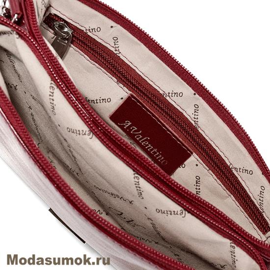 befeaab65763 Сумка-клатч из натуральной кожи A.Valentino - 488 тёмно-красная. Артикул   SU888